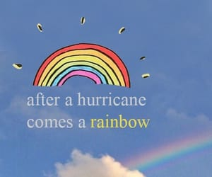 wallpaper, quote, and rainbow image