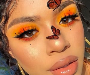 butterfly, lovely, and yellow image
