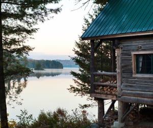 lake, house, and nature image