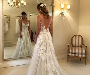 bride, dress, and look image