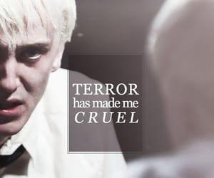 draco malfoy, harry potter, and terror image