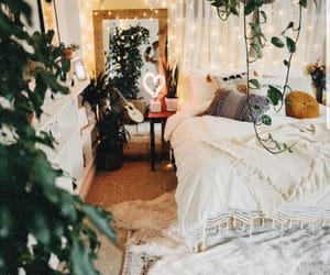 bedroom, plants, and goals image
