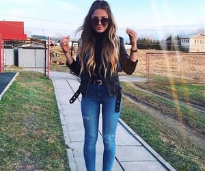 blue jeans, hair, and fashion image