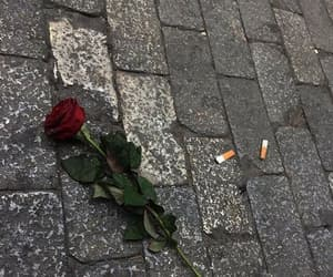 cigarette, red, and rose image