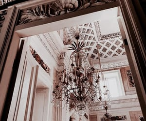interior, architecture, and chandelier image