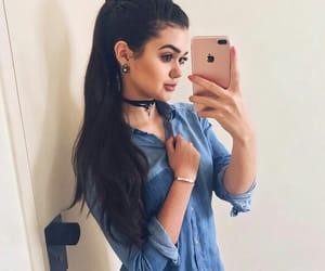 girl, iphone, and beautiful image