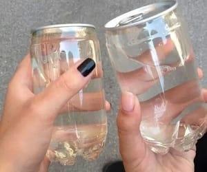 black, bottles, and hands image