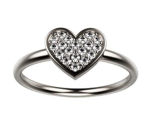 diamond ring, promise ring, and love ring image