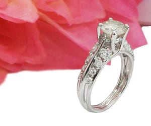diamond ring, accents, and unique engagement ring image