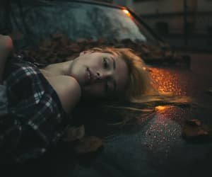 car, girl, and night image