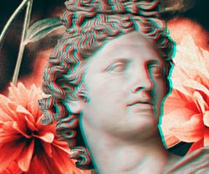 aesthetic, flower, and vaporwave image