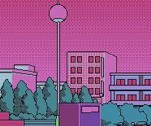 pink, pixel, and wallpaper image
