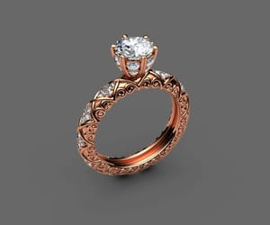 gold ring, diamond ring, and fine jewelry image