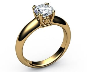 gold ring, solitaire ring, and filigree ring image