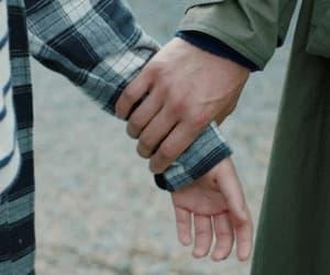 gif, hands, and sad image