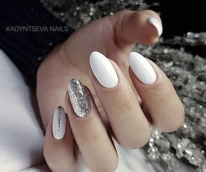 glitter, nails, and white image