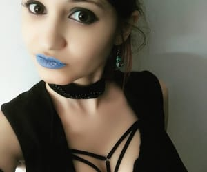 blue lips, cosplay, and necklace image