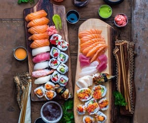 delicious, japan, and sushi image