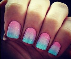 girls, nails, and fluo image
