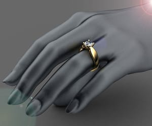 diamond ring, hand made, and solitaire ring image