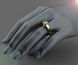 engagement ring, solid gold, and gold ring image