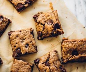 beige, brownies, and chocolate image