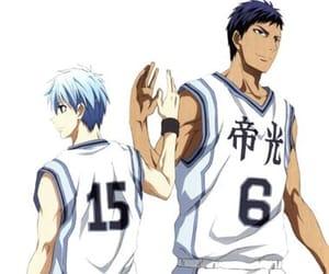 anime, kuroko no basket, and aomine image