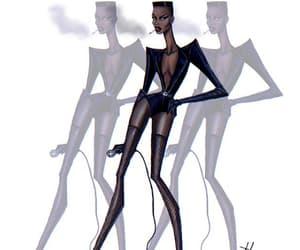 fashion illustration, hayden williams, and grace jones image