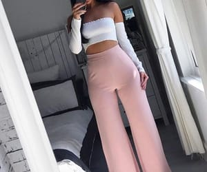 clothes, model, and pants image