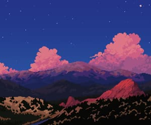 8bits, art, and sky image