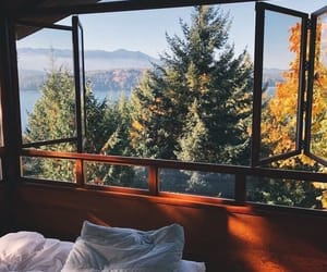bedroom, nature, and room image