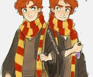 book, fred and george, and harry potter image
