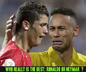 cristiano ronaldo, humor, and neymar image