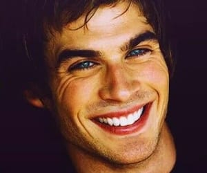 ian somerhalder, smile, and blue eyes image