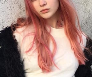 cream, orange hair, and pink hair image