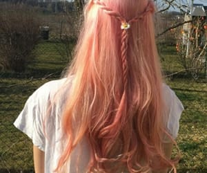 aesthetic, hair, and orange hair image