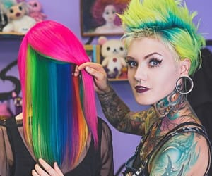 beautiful hair, colored hair, and hair image