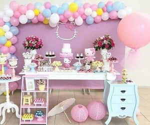cake, pink, and party ideas image