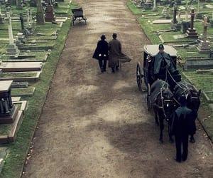 cemetery, dark, and gentlemen image