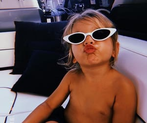 baby, sunglasses, and vacation image