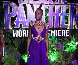 black panther, dress, and hair image