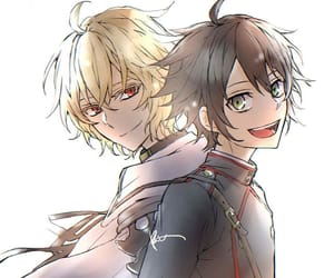 anime, couple, and seraph of the end image