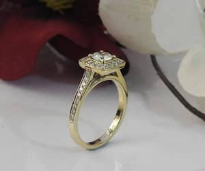 engagement ring, unique ring, and diamond engagement ring image