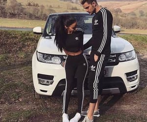 love, adidas, and couple image