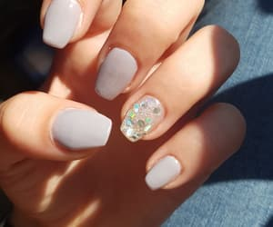 gel, glitter, and nails image