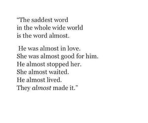 quotes, almost, and sad image