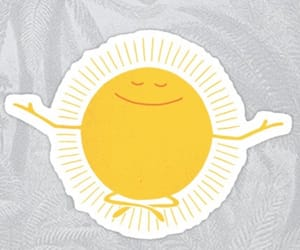animated, happy, and meditate image