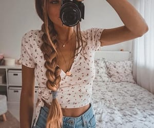 fashion, floral, and goals image