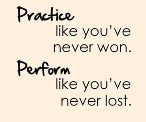 quotes, practice, and perform image