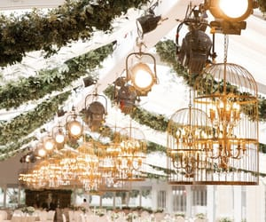 chandelier, flowers, and عرس image